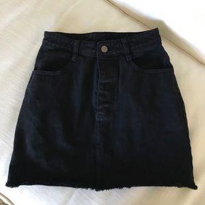 Brandy Melville J Galt Black Denim Skirt